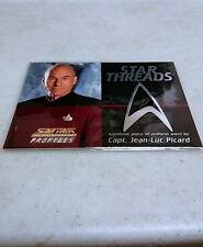 STAR TREK Patrick Stewart Star Threads Jean Luc Picard Uniform Card RARE
