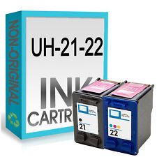 Reman 21XL Nero 22XL UCI ® Cartuccia di Inchiostro Combo Fit for HP Deskjet D2460