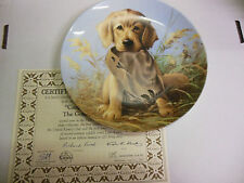 Knowles Collector's Plate 1987 Golden Retriever Plate #7147B 061313ame