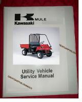 Kawasaki mule 2500 UTILITY UTV  Workshop service manual Binder