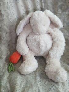 """FAO Schwarz Bunnies by the Bay Plush Bunny Rabbit w/ Carrot Cream Floppy 18"""""""
