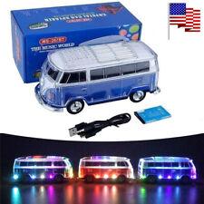 Christmas Gift Wireless Bluetooth Speaker LED USB Mini Bus Speakers Car Player