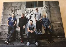 SIMPLE PLAN  Complete Band Signed 11x14 Photo 5+ Pierre Bouvier
