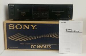 SONY TC-WE425 Cassette Deck / Original box, packaging & manual. Must See!