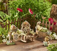 FAIRY GARDEN Miniature ~ Mini World New Baby 5pc. Gift Boxed Set ~ Mini Dollh...