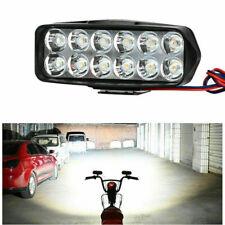 Motorcycle Light 12LED Headlight ATV Car DRL Work Lamp 12-90V ZES-3030 18W 7000K