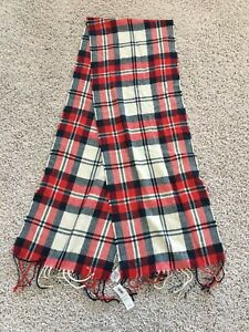 New Old Navy Boys Red Blue and Cream Scarf One Size NWT