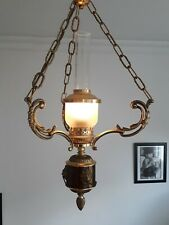 LUSTRE laiton cuivre style empire suspension napoleon lampe lunel arlus light