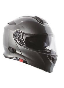 Torc T28 Silver Metallic DOT ECE Street Motorcycle Bike Modular Flip Up Helmet