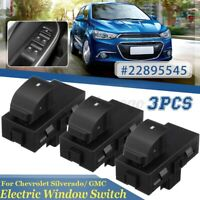 3Pcs Passenger Electric Window Switch For Chevrolet Silverado Suburban