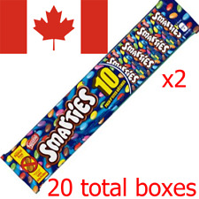 20 Smarties Boxes 11.5 g Chocolate Nestle Canadian Candy FREE SHIPPING TO US