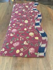 Williamsburg Valance Red Floral 72 X 16