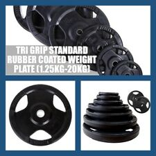 Brand New 2.5KG TRI GRIP STANDARD RUBBER COATED WEIGHT PLATE  only $3/kg