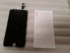 "Iphone 6 Black LCD Digitizer Screen Assembly 4.7"" & Tempered Glass"