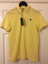BNWT Men's/Unisex G-STAR RAW Yellow Slim Fit Polo Shirt. Size: S