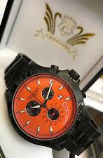 Cavadini Mirage Pilot Chronograph Men's Watch Solid Stainless Steel IP-Black
