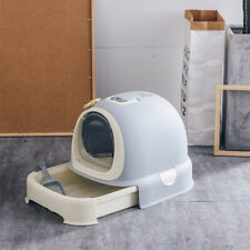 Totally Closed Drawer Cat Hooded Litter Tray Big Covered Enclosed Toilet Box