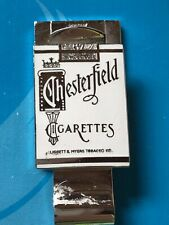 Excellent Vintage 1950s Chesterfield Cigarettes White Enameled Money Clip 2 Side