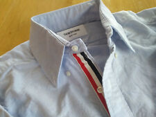 New Thom Browne Blue Oxford Cloth Button Down Grosgrain TB1 MSRP $425