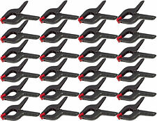 "24x Plastic Clamp Nylon Spring Grip Model Making Plastic Large Craft 6"" Jaws New"