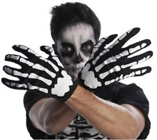 Skeleton Gloves 💀 Adult One Size Day Of The Dead Halloween