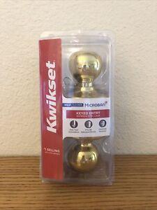 Kwikset Keyed Entry Lock | Fits All Standard Doors Certified Security | Brass