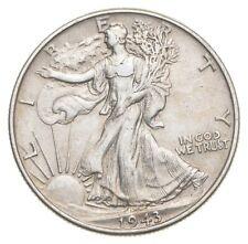 AU/Unc - 1943 Walking Liberty Silver Half Dollar - Better *500