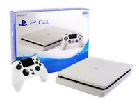 Sony PS4 Konsole - SLIM 500GB - Weiss + Neuen Gator Claw Controller Gamepad Weiß