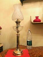 Antique Brass Kerosene Lamp w. Kosmos Brenner H. 73cm