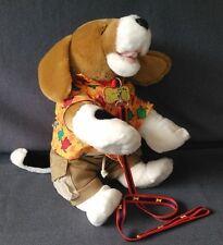 "Build a Bear Beagle Puppy Dog Large 20"" barks/pants With Cloths, Leash & Collar"