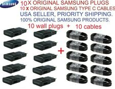 10 x original Oem samsung fast adaptive wall charger 10 X type c cable Wholesale