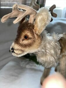 Vintage Steiff Mohair Reindeer - No tag or button