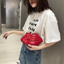 Lips Women PVC Handbags Chain Messenger Bags Shoulder Evening Party Clutch