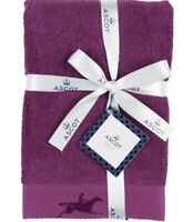 Ascot Luxe Rider Purple Bath Towel By Christy