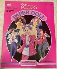 VINTAGE 80's ROCKERS BARBIE PAPER DOLL GOLDEN BOOK #1528 Uncut 1986