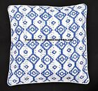 """16"""" KANTHA QUILTED DECORATIVE SOFA PILLOW CUSHION COVER Indian Bohemian Decor"""