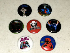 7 Buttons 1 Inch Pin Black Sabbath Later Album Covers TYR Born Again - LOT C