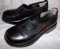 Dansko Wos Shoes Maya US 7.5-8 Black Leather Slip-on stretch slide 5205