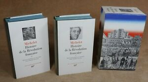 LA PLEIADE :  COFFRET MICHELET / HISTOIRE DE LA REVOLUTION FRANCAISE 1 & 2 1989