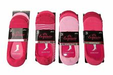 12 Pairs LADIES INVISIBLE TRAINER SHOE LINER SOCKS FOOTSIE 58% COTTON PINK 1688