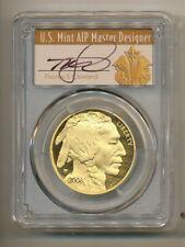 POP= 12  * 2008 W Buffalo $50 PCGS PR70 Proof GOLD 1 oz Cleveland Art Deco Label