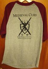 MEDIEVAL CUBS lrg raglan T shirt 2009 tee Erie Shores Boy Scouts shield BSA