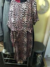 Bonmarche Size 24 Pink Leopard Print Dress