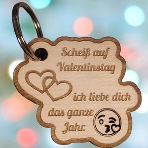 Schlüsselanhänger Valentinstag – Echtholz – Liebe