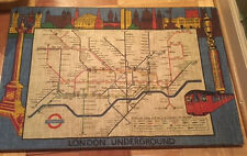 London Underground map made in Ireland on linen pre 1970? brexit