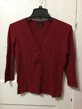 Women Guess Red Sweater Cardigan Blazer Size Large L