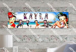 Personalized/Customized Betty Boop Name Poster Wall Art Decoration Banner
