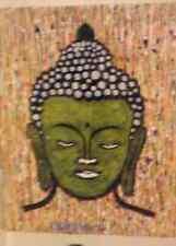 budha handmade painting oil+acrilic on canvas signed