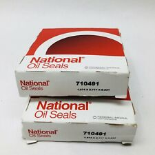 LOT OF 2 NATIONAL OIL SEALS 710491 FRONT AXLE SEAL