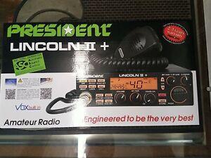 President Lincoln II+ 10 ,11,12 Meter Amateur Mobile Radio AM/FM/SSB/LSB/USB/CW